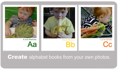 Create alphabet books from your own photos